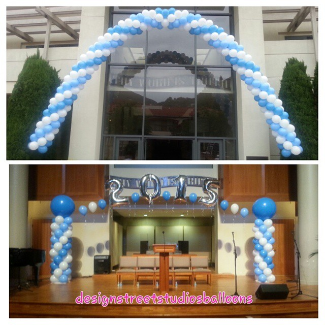 Graduation Stage and Entrance Arches