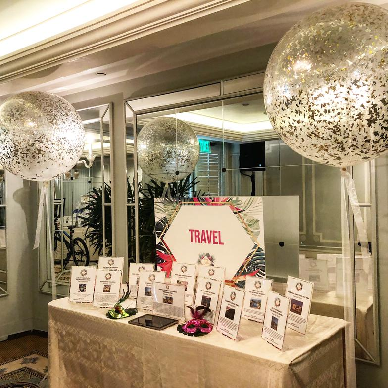 Glittered 3' Balloons Display