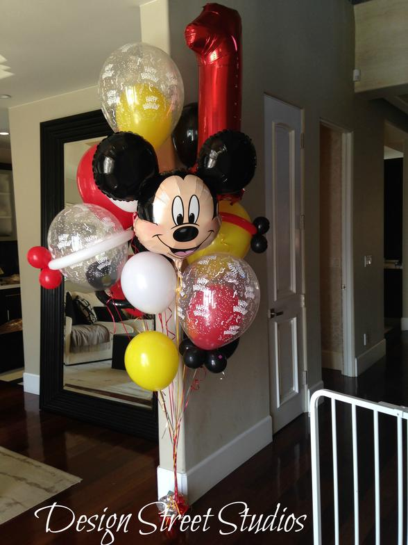 Mickey Bday Balloon Bouquet