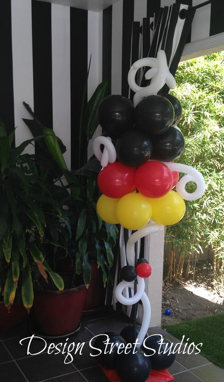 Mickey Themed Balloon Stands