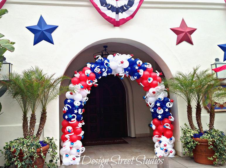 4th of July Shooting Star Patriotic Balloon Arch