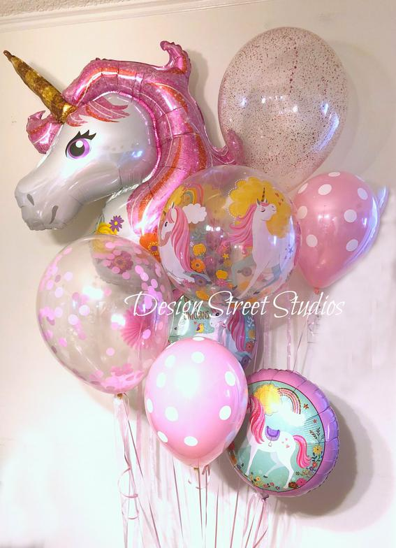 Girl's Unicorn Balloons Party